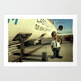 Cpt Roger Cambion, CRJ 900 Art Print