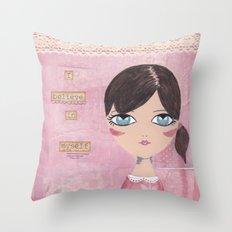 I believe in myself Throw Pillow