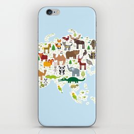 animal bison bat fox wolf elk horse cock camel partridge fur seal Walrus goats Polar bear Eagle iPhone Skin