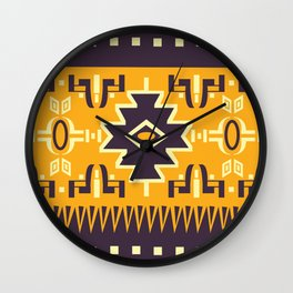 American Native Pattern No. 148 Wall Clock