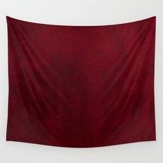 VELVET DESIGN - red, dark, burgundy Wall Tapestry