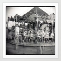 carousel Art Prints featuring Carousel by Ibbanez