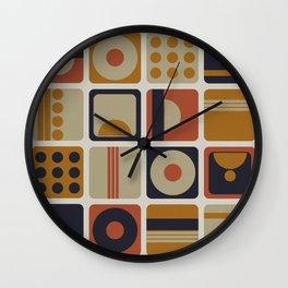 Retro Geometrical Minimalist Squares Wall Clock