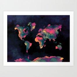 world map 74 Art Print