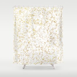 Gold/Bronze Marble Shower Curtain
