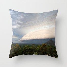 Storm clouds over Australian landscape Throw Pillow
