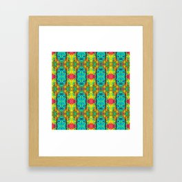 Tribal Gathering Picnic Framed Art Print