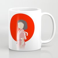 chihiro Mugs featuring Chihiro by adovemore