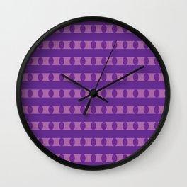 Purple Spots and Stripes Wall Clock