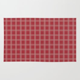 Christmas Cranberry Red Jelly Tartan Plaid Check Rug