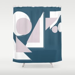 Geometric Shapes Abstract Shower Curtain