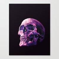 skull Canvas Prints featuring Skull by Roland Banrevi