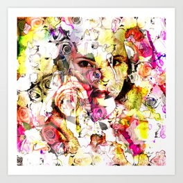 face of face Art Print