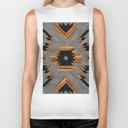 Urban Tribal Pattern No.6 - Aztec - Concrete and Wood Biker Tank
