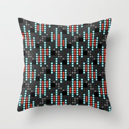 BRIXHAM, VINTAGE RETRO SQUARES: SIXTIES OFFICE Throw Pillow