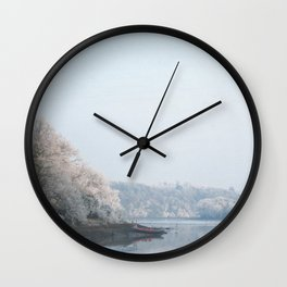 Frozen landscape Wall Clock