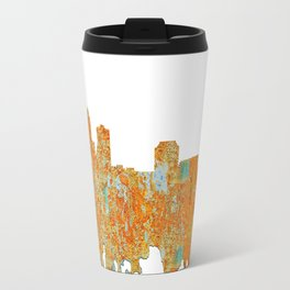 Des Moines,Iowa Skyline -Rust Travel Mug