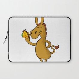 donkey with taco Laptop Sleeve