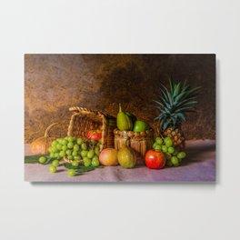 Unusual composition of fruit Metal Print