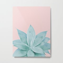 Blush Agave #2 #tropical #decor #art #society6 Metal Print