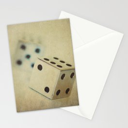 Vintage Chrome Dice Stationery Cards