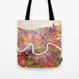 New Orleans map Tote Bag