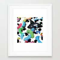 pool Framed Art Prints featuring Pool by kiwiroom