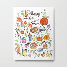 Pumpkin Spice Season Metal Print