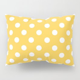 Polka Dots (White & Orange Pattern) Pillow Sham