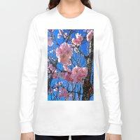 portland Long Sleeve T-shirts featuring Portland Sakura by Casey J. Newman