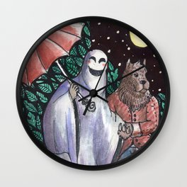 GHOST AND WEREWOLF Wall Clock