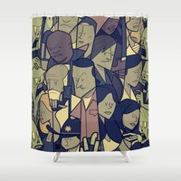 ale giorgini Shower Curtains featuring The Walking Dead by Ale Giorgini