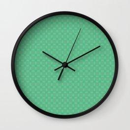 Decorative Mint Green Pattern Wall Clock