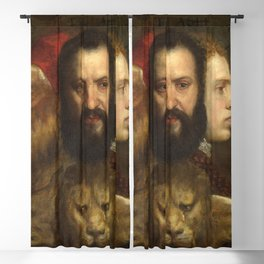Titian - Allegory of Prudence Blackout Curtain