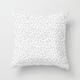 Gnome pattern Throw Pillow