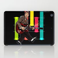 marty mcfly iPad Cases featuring Marty McFly plays Guitar Hero by Akyanyme