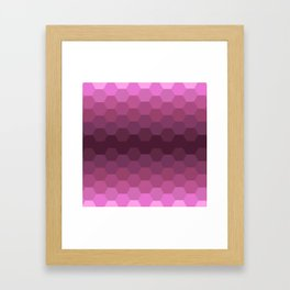 Purple Honeycombs Framed Art Print