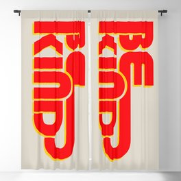 BE KIND - bright typography Blackout Curtain