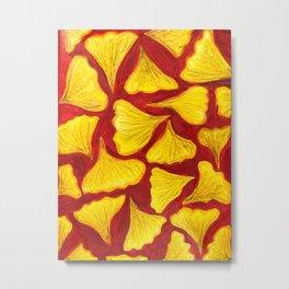 ginkgo biloba leaves in the fall pattern Metal Print