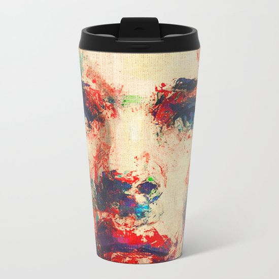 Face in Saturated Color's 3 Metal Travel Mug