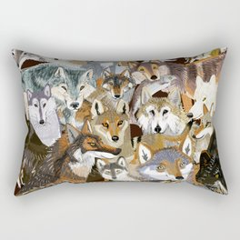 Wolves o´clock (Time to Wolf) Rectangular Pillow
