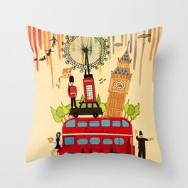 Rainbow Cities ~ London Throw Pillow