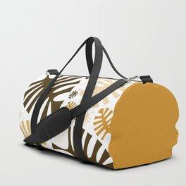 Monstera leaves in brown shades Duffle Bag