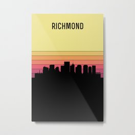 Richmond Skyline Metal Print