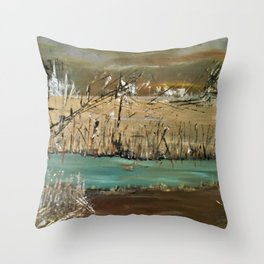 Up a Lazy River Throw Pillow