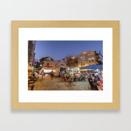 Istanbul At Night Framed Art Print