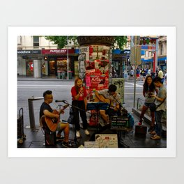 Buskers In Melbourne Art Print