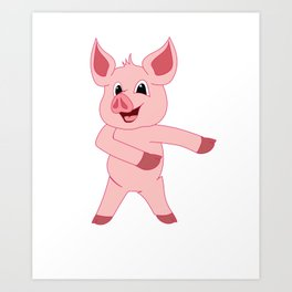 Pig Floss Like a Boss Viral Dancing Art Print