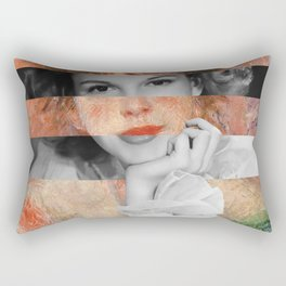 Renoir's Jeanne Samary in a low necked dress & Judy Garland Rectangular Pillow