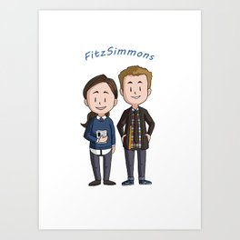 Fitzsimmons Chibis Art Print